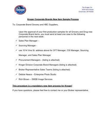 Kroger Corporate Brands Portfolio Print Minimum Requirements