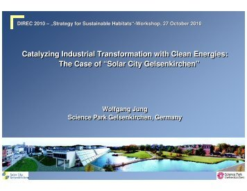 Solar City Gelsenkirchen - Delhi International Renewable Energy ...