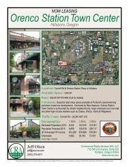 Orenco Station Town Center - Commercial Realty Advisors