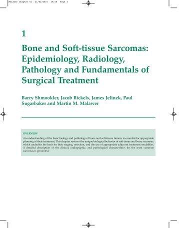1 Bone and Soft-tissue Sarcomas: Epidemiology ... - Sarcoma.org
