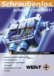 Schraubenlose Klemmen Flyer D.pdf - Werit Kunststoffwerke W ...