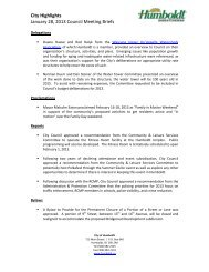 City Highlights January 28, 2013 Council Meeting ... - City of Humboldt