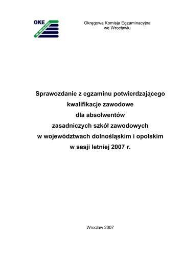 Zasadnicze Szkoły Zawodowe - Okręgowa Komisja Egzaminacyjna