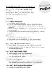 5. September 2013 - Der PromovierendenRat