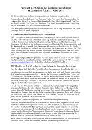 Protokoll der Sitzung des Gemeindeausschusses - Gemeinde St ...