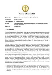 Term of Reference (TOR)