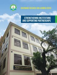 strengthening institutions and supporting partnerships