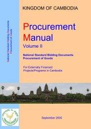 Manual on Procurement Vol II Annex IIIa and