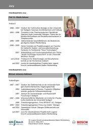 Interdisziplinäre Projekte (PDF; 265 KB) - Bosch-Career