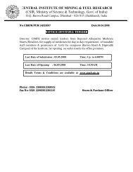 Cimfr dhanbad tenders dating