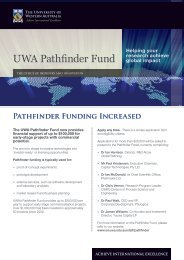 UWA Pathfinder Fund 2012 - Office of Industry and Innovation - The ...