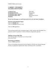Exam paper 2003 - Cardiff University