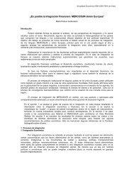 ¿Es posible la Integración Financiera MERCOSUR-Unión Europea?