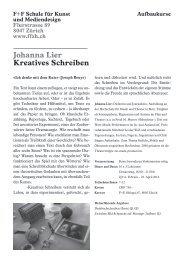 Johanna Lier Kreatives Schreiben - Visarte
