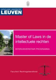 Master of Laws in de intellectuele rechten - Hogeschool-Universiteit ...