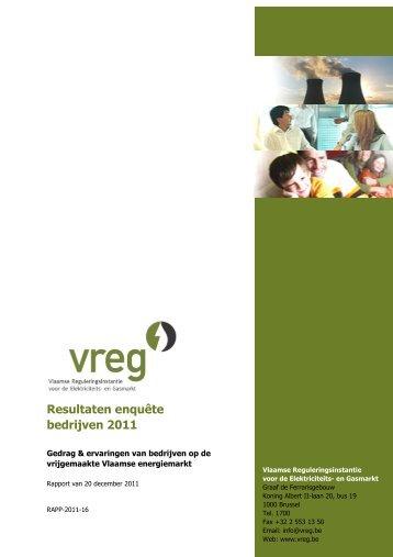 Rapport enquëtes bij bedrijven - Vreg