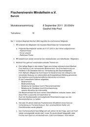 Fischereiverein Mindelheim eV Bericht