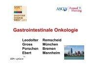 Gastrointestinale Onkologie - DDW Update 2013