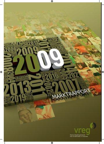 RAPP-2010-3: Marktrapport - De Vlaamse energiemarkt in 2009 - Vreg