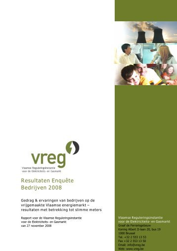 Resultaten Enquête Bedrijven 2008 - Vreg