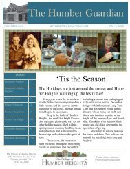 November Newsletter - Schlegel Villages