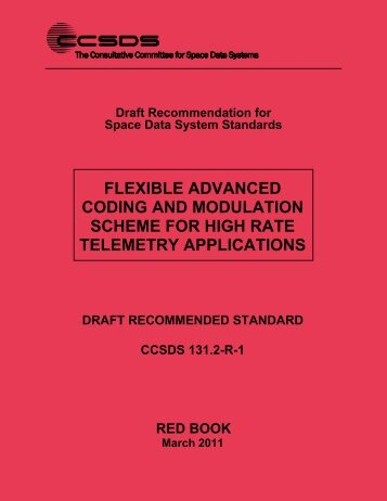 CCSDS 131.2-R-1, Flexible Advanced Coding and Modulation ...