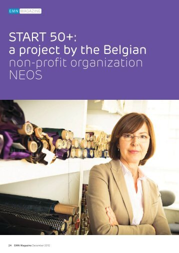 START 50+: a project by the Belgian non-profit organization NEOS