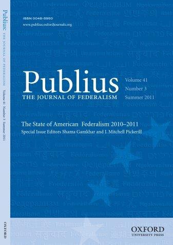 Front Matter (PDF) - Publius - Oxford Journals