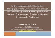 présentation - Transfert de Technologie en Agriculture