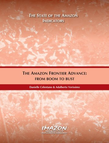 the amazon frontier advance: from boom to bust - Imazon