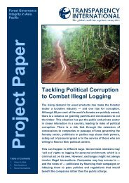 Tackling Political Corruption to Combat Illegal Logging