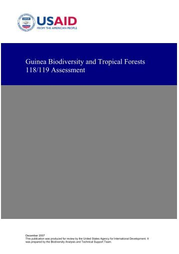 Guinea Biodiversity and Tropical Forests 118/119 Assessment