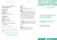 Vortragsveranstaltung für Ms-Betroffene Donnerstag, 9 ... - Quellenhof