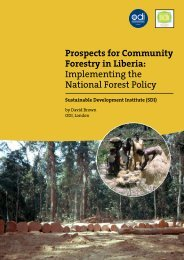 Prospects for Community Forestry in Liberia - Illegal Logging Portal