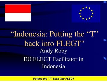 """Indonesia: Putting the ""T"" back into FLEGT"" - Illegal Logging Portal"