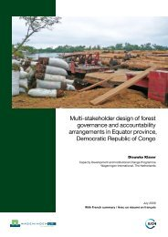Multi-stakeholder design of forest governance and accountability ...