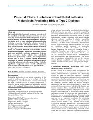 Potential Clinical Usefulness of Endothelial Adhesion Molecules in ...