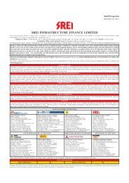 Shelf Prospectus - Srei Infrastructure Finance Limited