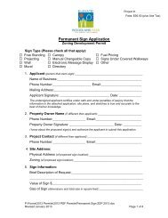 2013 Permanent Sign Application Zoning Development Permit