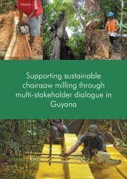 Supporting sustainable chainsaw milling through multi-stakeholder ...