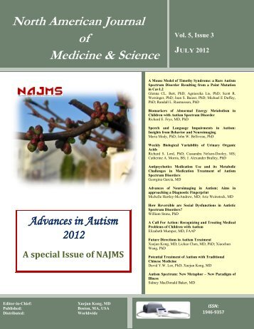 Speech and Language Impairments in Autism - NAJMS: The North ...