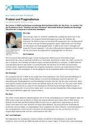 Protest und Pragmatismus - Sagel, Rüdiger (Die Linke)