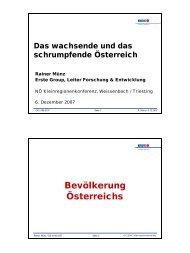 Prof. Dr. Rainer Münz - raumordnung-noe.at