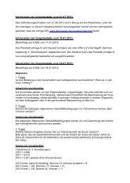Bieterinformationen (Stand: 29.07.2013) - Bayern