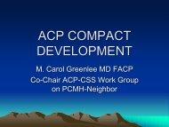 ACP COMPACT DEVELOPMENT