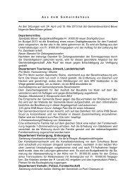 Bericht vom 24. April und 15. Mai 2013 - Bever