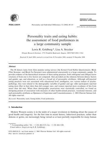 sample community assessment paper
