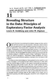 Revealing structure in the data: Principles of exploratory factor ...