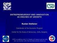 Presentation outline - CIPE Development Institute