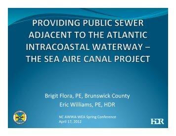 Brigit Flora, PE, Brunswick County Eric Williams ... - NC AWWA-WEA